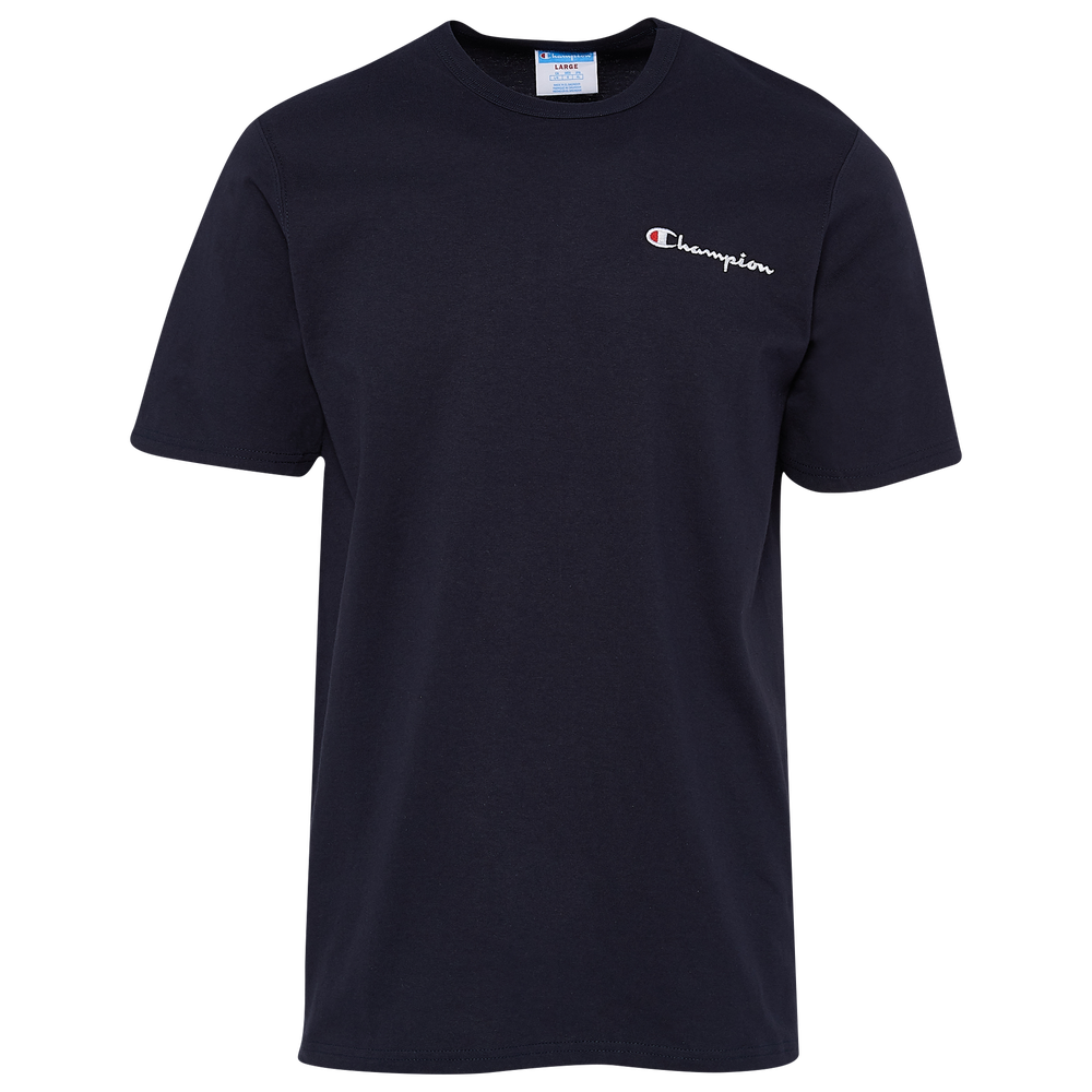 Champion Script Embroidered T-Shirt - Mens / Navy
