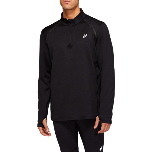 Run warm no matter what the temperature in the ASICS Thermopolis Winter Half-Zip Top. Reflective ASICS branding helps keep you visible in fading daylight. ASICS Thermopolis Winter Half-Zip Top features: Half zip for adjustable ventilation. Long sleeves for coverage you want. Regular fit for convenient sizing. 94% polyester/6% spandex.