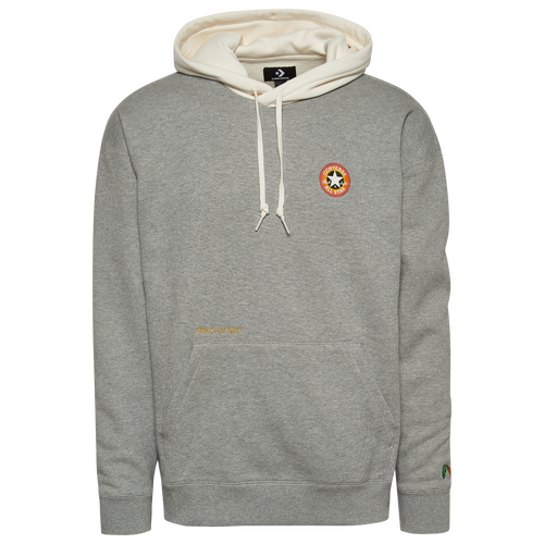 "PULL ONE OVER. Subtle touches bring the spirit of cartoon icon Bugs Bunny to a classic hoodie in celebration of the mischief-maker\\'s 80th anniversary. Red and orange outline the left chest star ankle patch, just like the famous Looney Tunes logo. An embroidered carrot at the left wrist and small, satin-stitched catchphrase above the front kanga pocket let them know what\\'s up. Finished with a two-piece drawstring adjustable hood and dropped shoulders to keep this style classic, comfortable, and just a little looney. Oversized fit, brushback fleece hoodie with Bugs Bunny 80th anniversary design Left chest Looney Tunes star ankle patch Embroidered carrot at left wrist Center front kanga pocket with satin stitched ""What\\\'s up Doc?\\\"