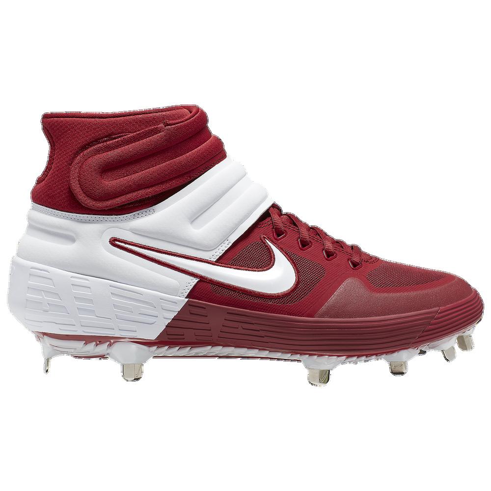 Nike Alpha Huarache Elite 2 Mid - Mens / Team Crimson/White/Bright Crimson