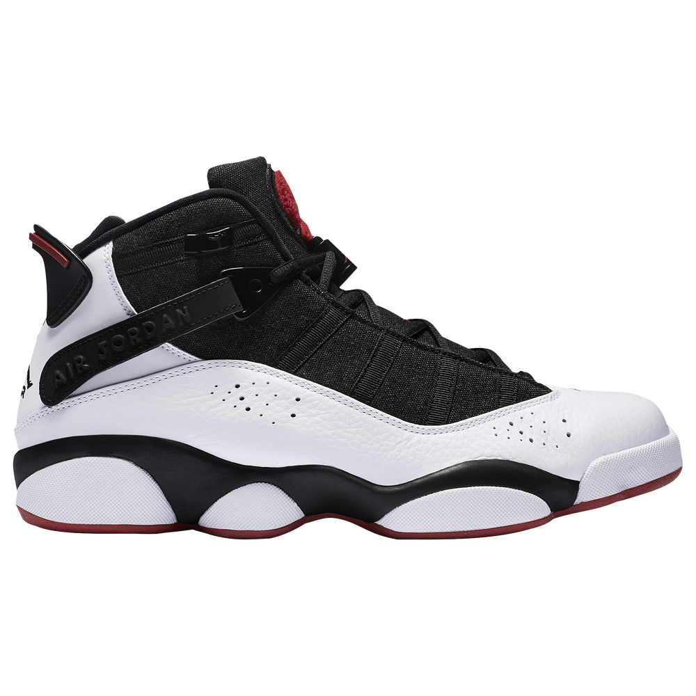 Jordan 6 Rings - Mens / Black/White/Gym Red
