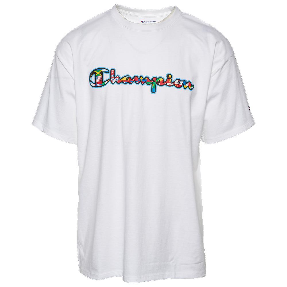 Champion Classic Script Olympic T-Shirt - Mens / White