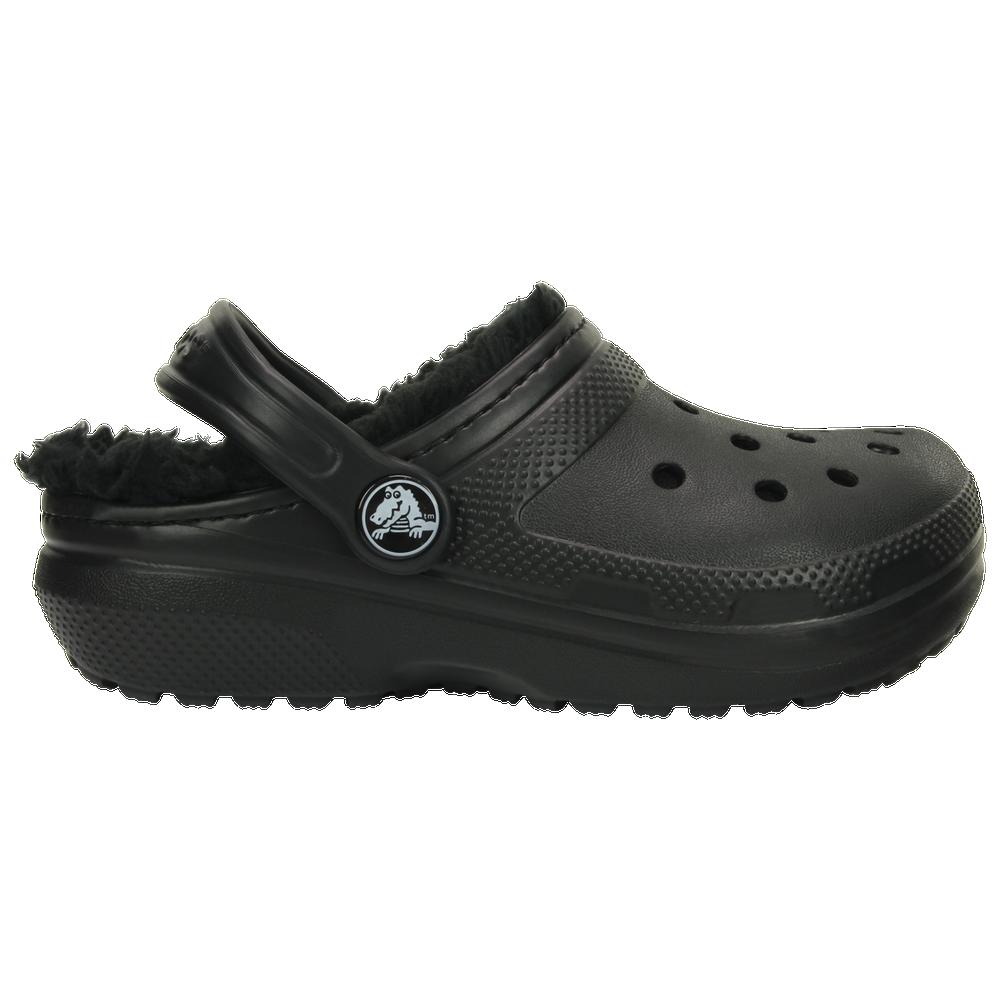 Crocs Lined Clog - Boys Grade School / Black/Black