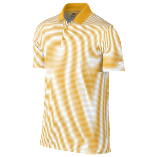 Nike Victory Mini Stripe Polo - Mens - University Gold/White/White