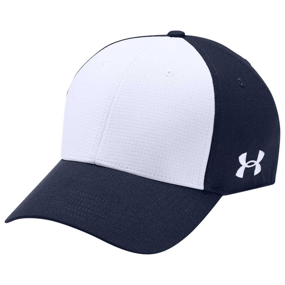 Under Armour Team Color Blocked Airvent Cap - Mens / Midnight Navy/White