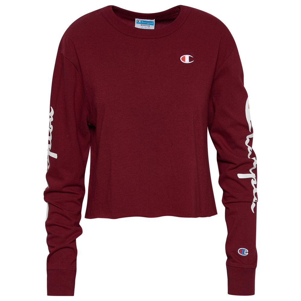 Champion Boyfriend Cropped L/S T-Shirt - Womens / Sepia Red