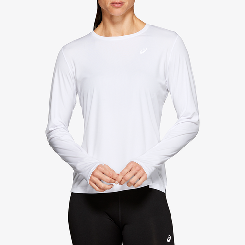 The ASICS Silver Long Sleeve T-Shirt is designed to regulate your body temperature, so you can take on your run in cold weather. A snug fit around the neck, arms, and body allow you to move freely and comfortably. Synthetic knitted fabric keeps you warm and comfortable. Long-sleeved arms are ideal for colder weather. 100% polyester. Imported.