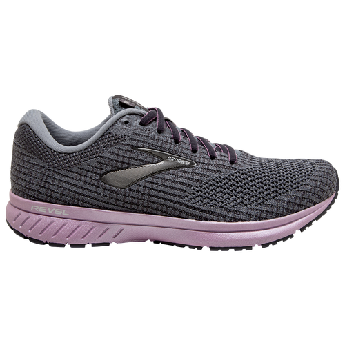 Go the Distance The Brooks Revel 3 brings premium comfort to your run. An inner bootie hugs your foot for a sock-like fit, so your foot is cushioned and supported with each stride. A flat knit upper provides the sleek look and comfortable fit that'll let you go the extra mile. Brooks Revel 3 features: Inner bootie upper offers premium comfort. Bio MoGo DNA adapts to your stride, weight, and speed. Brooks Revel 3 - Women\\\'s Running Shoes - Primer / Blackened Pearl / Frost, Size 6.0.