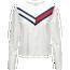 Tommy Hilfiger Chevron Long Sleeve Crop Color Block - Women's
