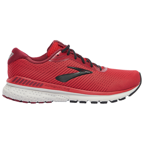Modernize your fit with the Brooks Adrenaline GTS 20. A new streamlined, engineered mesh upper with 3D Fit Print offers the structure and proven fit for which the Adrenaline is known. The asymmetrical 3D Fit Print saddle pulls from the heel and wraps aroun dyour arch for a secure fit. Brooks Adrenaline GTS 20 features: Engineered mesh upper with 3D Fit Print. BioMoGo DNA and DNA AMP cushioning. GuideRails keep you moving comfortably by keeping excess movement in check. Wt.: 9.4 oz. (women\\\'s size 7). Brooks Adrenaline GTS 20 - Men\\\'s Running Shoes - Red / Black / Grey, Size 8.5.