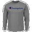 Champion Big And Tall Script Logo L/S T-Shirt - Men's