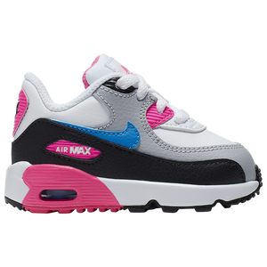 Nike Air Max 90 Leather Big Kids' Shoes Dark Grey Volt Black