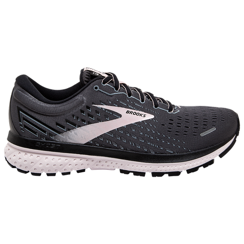 Step into a smoother run with the Brooks Ghost 13. This road-running shoe offers you super smooth transitions plus soft cushioning so your run is the only thing on your mind. The Ghost 13\\\'s soft, smooth ride features more DNA LOFT for even smoother transitions. Award-winning runner is a favorite, loved for its soft, smooth ride. DNA LOFT extends from heel to forefoot for easy transition from landing to toe-off. Super soft DNA LOFT offers plenty of cushioning underfoot, no matter how your foot lands. New engineered Air Mesh upper hugs your foot for a secure but breathable fit. 3D Fit Print applies strategic stretch and structure to the upper. Wt.: 8.8 oz. (women\\\'s size 7). Brooks Ghost 13 - Women\\\'s Running Shoes - Black / Pearl / Hushed Violet, Size 9.5.