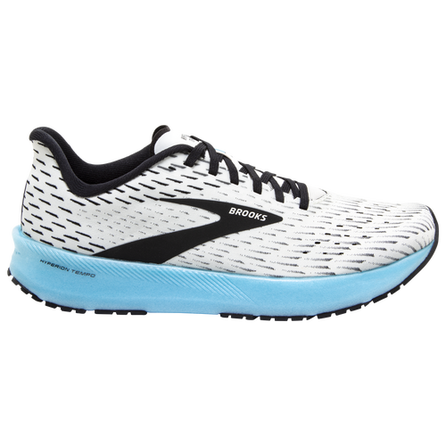Pick up your pace with the Brooks Hyperion Tempo. Light, responsive cushioning keeps you feeling light and fast with a new DNA FLASH midsole that\\\'s nitrogen infused to offer lightweight cushion andadaptive energy return. Shoe geometries keep your foot stable as you move, allowing you to run efficiently. Woven upper provides both stretch and breathability for maximum comfort. Featherweight stretch woven upper offers a secure fit. Wt.: 7.3 oz. (men\\\'s size 9). Brooks Hyperion Tempo - Men\\\'s Racing Flats - White / Black / Iced Aqua, Size 10.0.