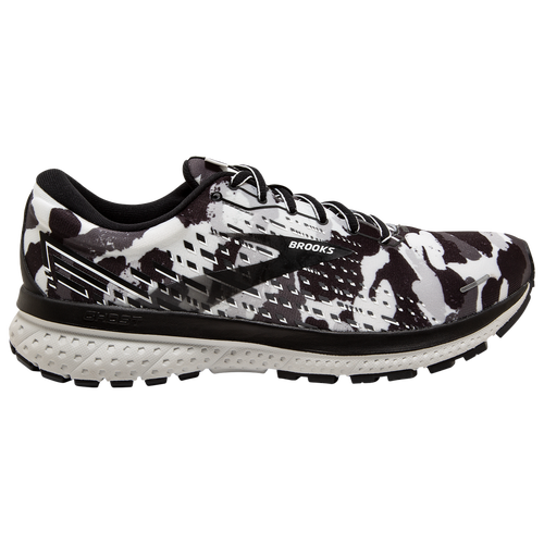 Step into a smoother run with the Brooks Ghost 13. This road-running shoe offers you super smooth transitions plus soft cushioning so your run is the only thing on your mind. The Ghost 13\\\'s soft, smooth ride features more DNA LOFT for even smoother transitions. Award-winning runner is a favorite, loved for its soft, smooth ride. DNA LOFT extends from heel to forefoot for easy transition from landing to toe-off. Super soft DNA LOFT offers plenty of cushioning underfoot, no matter how your foot lands. New engineered Air Mesh upper hugs your foot for a secure but breathable fit. 3D Fit Print applies strategic stretch and structure to the upper. Wt.: 10.1 oz. (men\\\'s size 9). Brooks Ghost 13 - Men\\\'s Running Shoes - White / Black / Grey, Size 9.5.