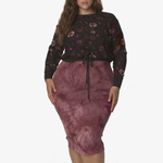 Lola Getts Plus Size Layered Long Sleeve Shirt - Women's