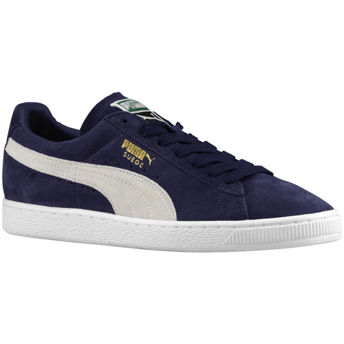 Puma Men's Suede Classic+ Casual Sneakers From Finish Line In Peacoat/white