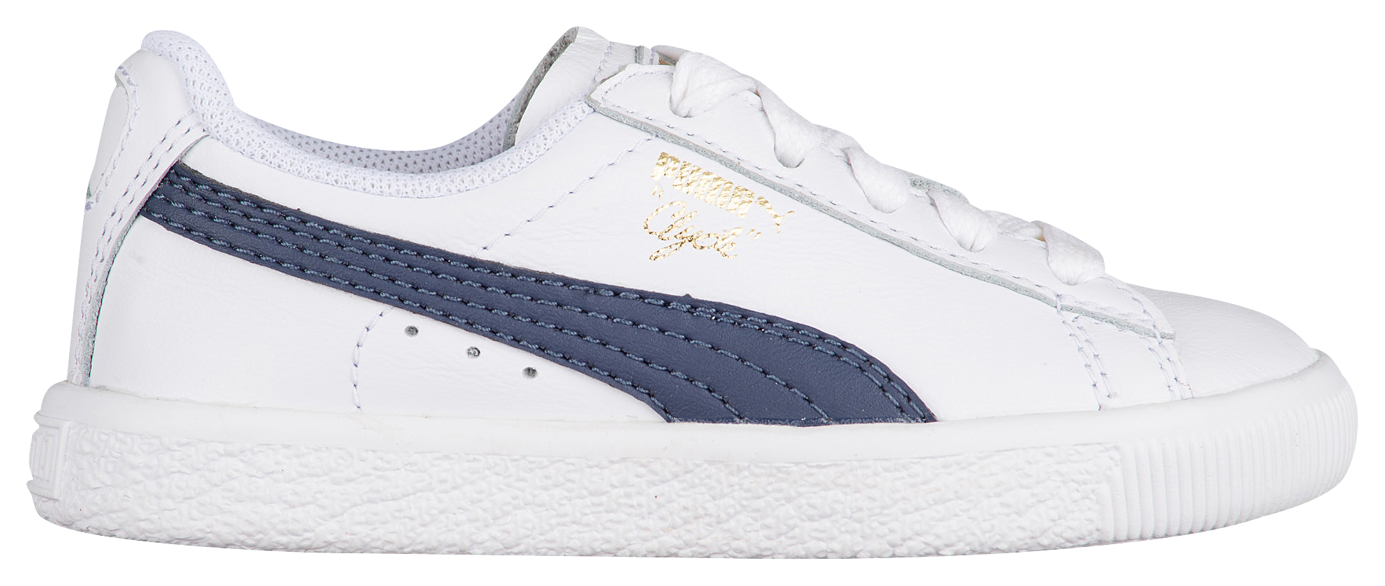 Kids PUMA Clyde - Boys Toddler - White/New Navy