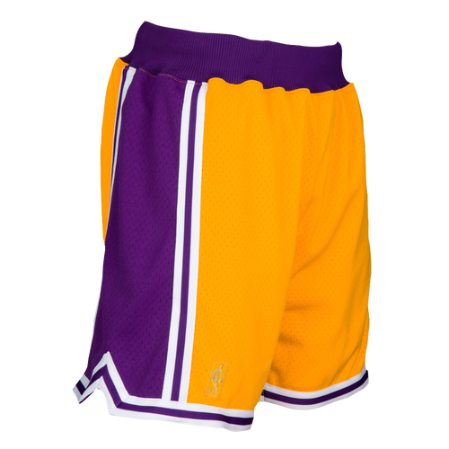 Mitchell & Ness Shorts MENS LOS ANGELES LAKERS MITCHELL & NESS NBA AUTHENTIC SHORTS