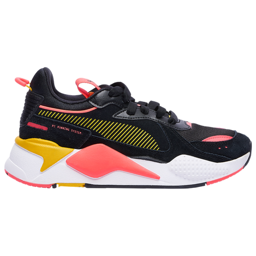 The PUMA RS-X Reinvent has been pulled from the archives and reimaged in a bold, contemporary cool style. Colorblocking throughout creates a fresh effect and the chunky sole feels modern and elevated. Suede upper with mixed overlays offers durability and looks bold. Lightweight polyurethane midsole for cushioned comfort with every step. Rubber outsole delivers durability and traction.