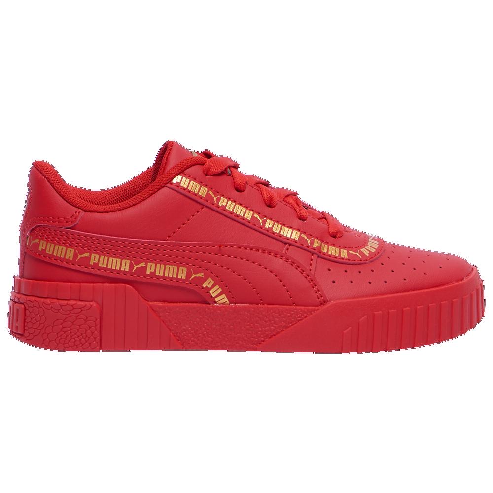 PUMA Cali Taping - Boys Grade School / Red/Gold