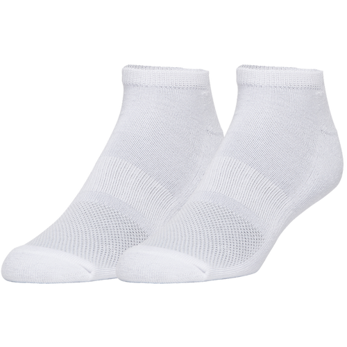 For cushioning comfort and support with every stride, choose the CSG 6 Pack No Show Socks. Built with quick-drying polyester fabric that helps optimally regulate moisture, these comfy pieces minimize distractions for a clean, focused fit! Arched construction and comfort toe seam offer optimal support and all-day comfort. 98% polyester/2% spandex. Imported.