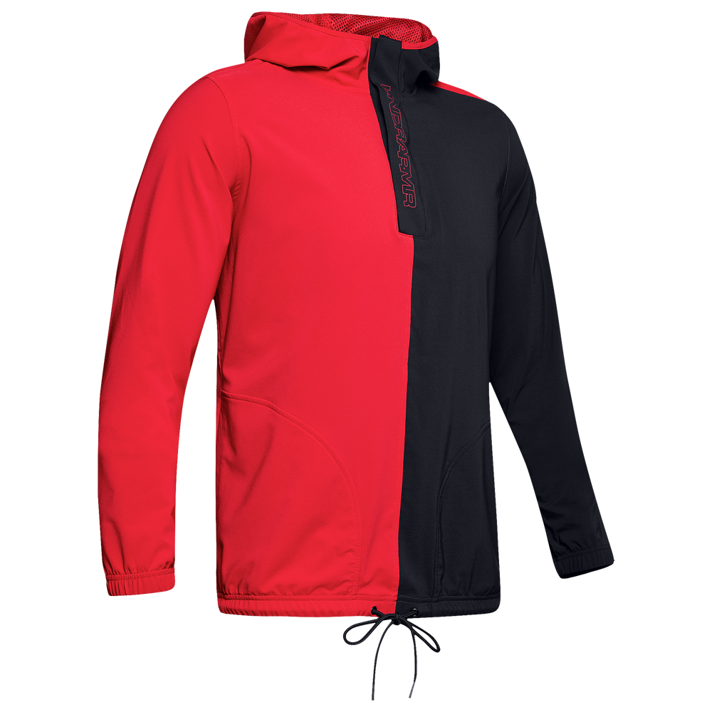 Under Armour Baseline Woven Jacket - Mens / Red/Black/Beta Red
