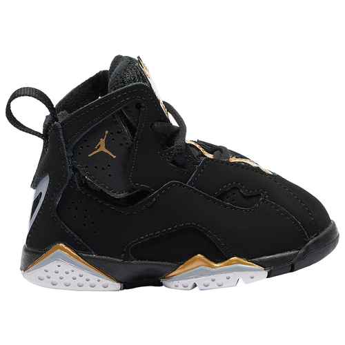 An Updated Classic If you\\\'re looking for a shoe for your child that has \\\'90s style, choose the Jordan Toddler Boys\\\' True Flight. It\\\'s designed to resemble the AJ VII from 1992, with a high-top silhouette that looks sporty and supports the ankle. Thanks to the lace closure, you can make the fit snug or loose, and with the heel tab, it\\\'s easy to get these kicks on and off. The Jumpman logo on the side of the True Flight adds a branded look that accents your child\\\'s casual wardrobe. Air Sole TechnologyThe upper of the Jordan True Flight is made from nubuck and synthetic materials, so it\\\'s durable and stylish. Your child\\\'s feet will stay comfortable all day, thanks to the Dynamic Fit sockliner and Zoom Air insole. Concealed within the heel is a full-length Air Sole unit, which is responsive and absorbs shock on impact. The rubber outsole of the Jordan True Flight has a herringbone pattern on the bottom for grip on all surface types.Jordan Toddler Boys\\\' True Flight features: Upper is crafted from nubuck and synthetic materials for lasting performance.Traditional lace closure provides a customizable fit. Heel tab makes getting shoes on and off more convenient. Insole has Zoom Air® technology for a plush feel. Air Sole® unit in heel provides shock absorption and responsiveness.Rubber outsole for durability and traction.