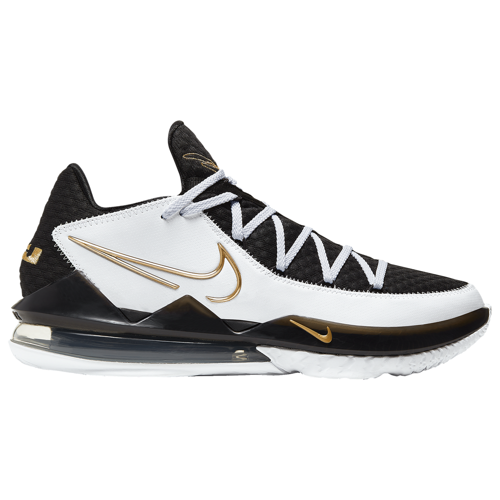 Nike LeBron 17 Low - Boys Grade School / Lebron James | White/Metallic Gold/Black