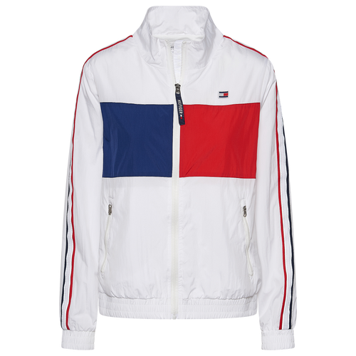 Show your speedy side with this Tommy Hilfiger Track Jacket that is made to look sleek and refined while you wear it. 100% Polyester. Imported.