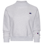 Champion Mock Neck Cropped Crew Sweater - Women's
