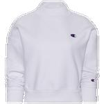 Champion Mock Neck Cropped Crew Sweater - Women's