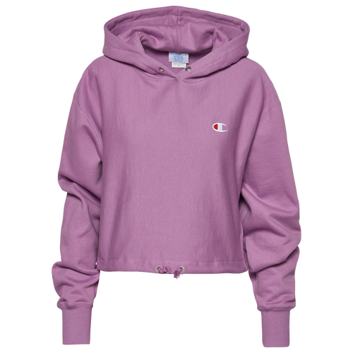Champion Cottons WOMENS CHAMPION REVERSE WEAVE CINCH CROPPED HOODIE