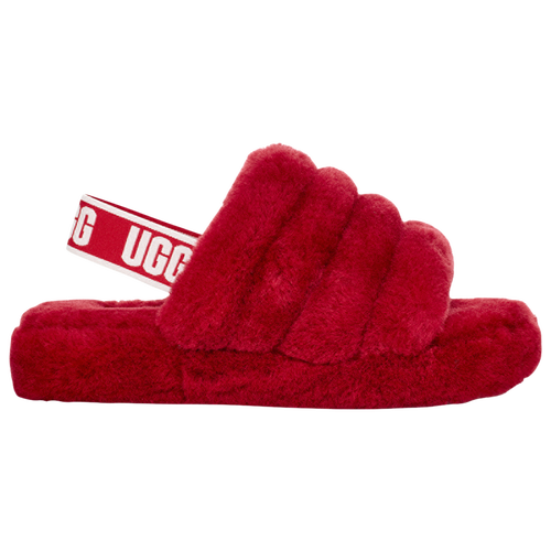 Ugg Babies' Fluff Yeah Slide In Ribbon Red