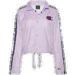 Champion Zipper Tape Cropped Coach Jacket - Women's