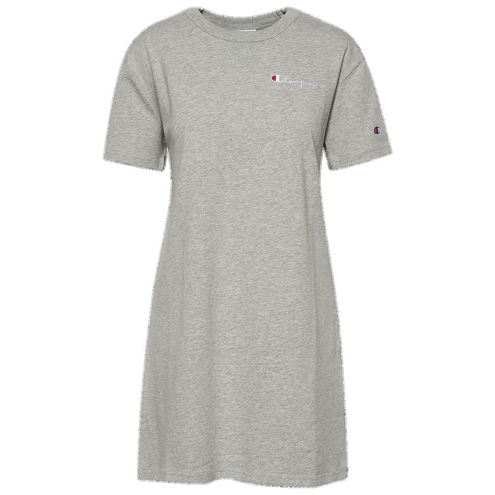 Champion Boyfriend Tee Dress - Womens / Oxford Grey