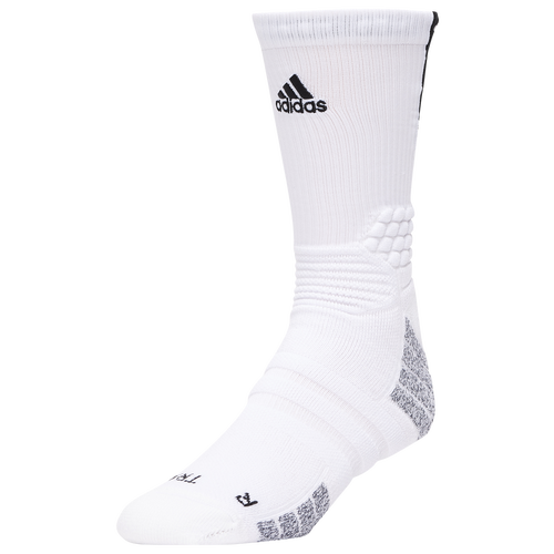 adidas Creator 365 Crew Socks - White / Black, Size L