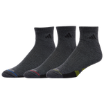 adidas 3 Pack Cushion Quarter Socks II - Men's