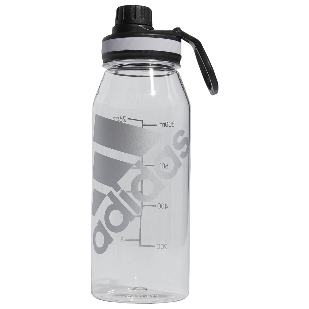 adidas Superlite Plastic 1 Liter Bottle / Clear/Metal Foil