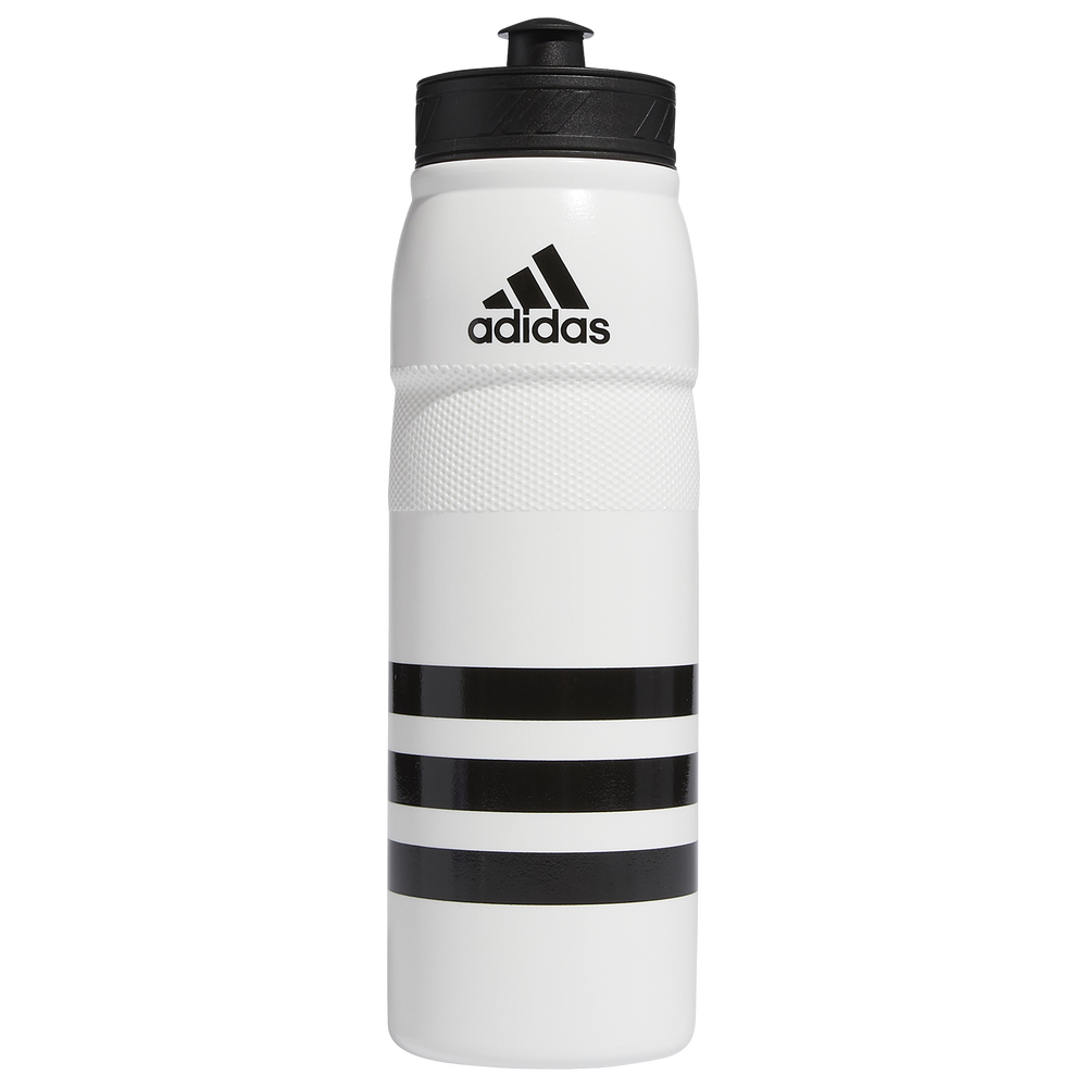 adidas Stadium Plastic Water Bottle / White/Black