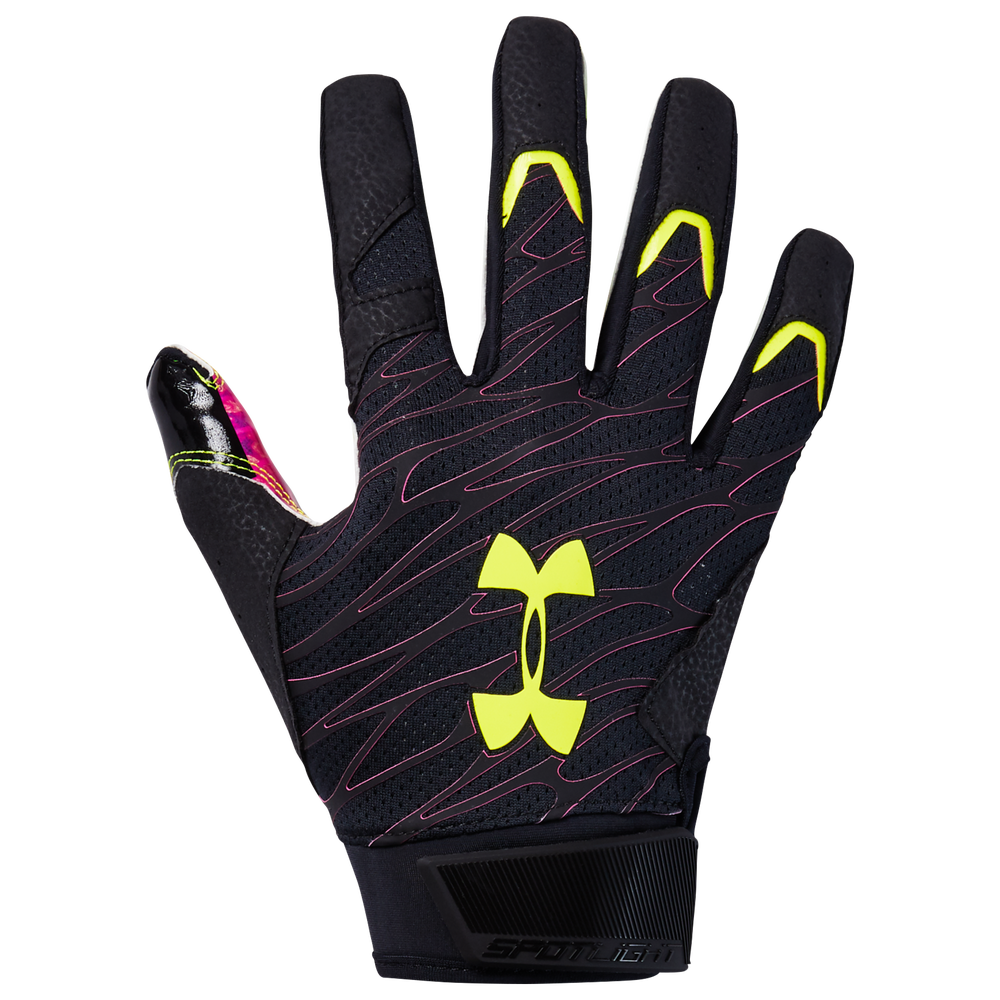 Under Armour Spotlight LE NFL Receiver Gloves - Mens / Black/X-Ray | DRIP