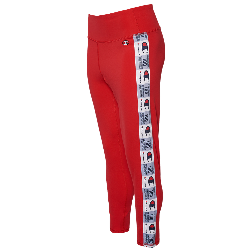 Champion High Waisted Jock Tag Tapped Tight - Womens / Scarlet