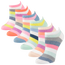 CSG Multi-Stripe 6 Pack No Show Socks - Women's