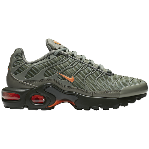 New Boys Nike Air Max Plus - Grade School - Dark Stucco/Total Orange