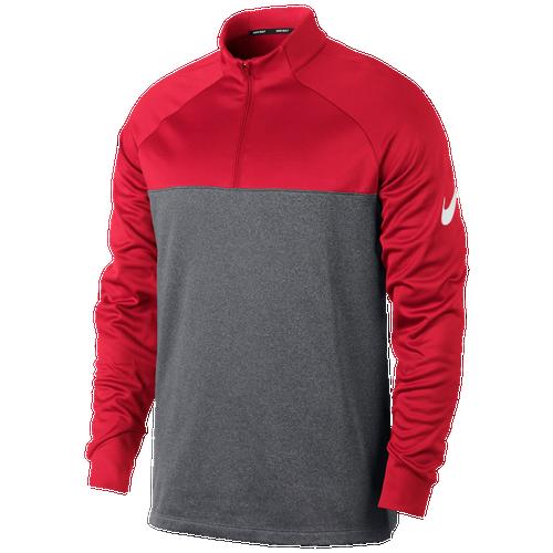 Nike Golf Therma Fit 1/2 Zip Golf Cover Up - Mens - Team Crimson/Dark Grey/Heather/White