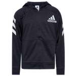 adidas Hooded Melange Jacket - Boys' Grade School