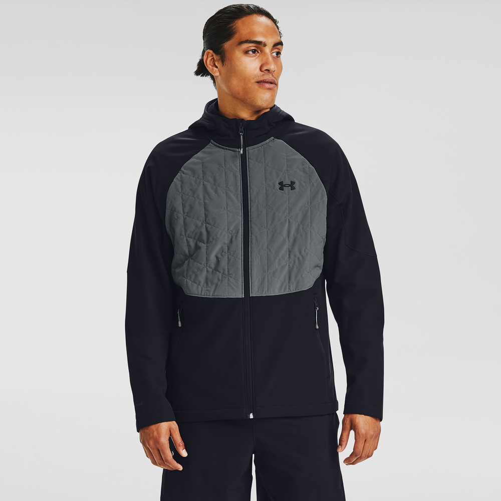 Under Armour ColdGear Reactor Full-Zip Hybrid Lite Jacket - Mens / Black/Pitch Grey/Black
