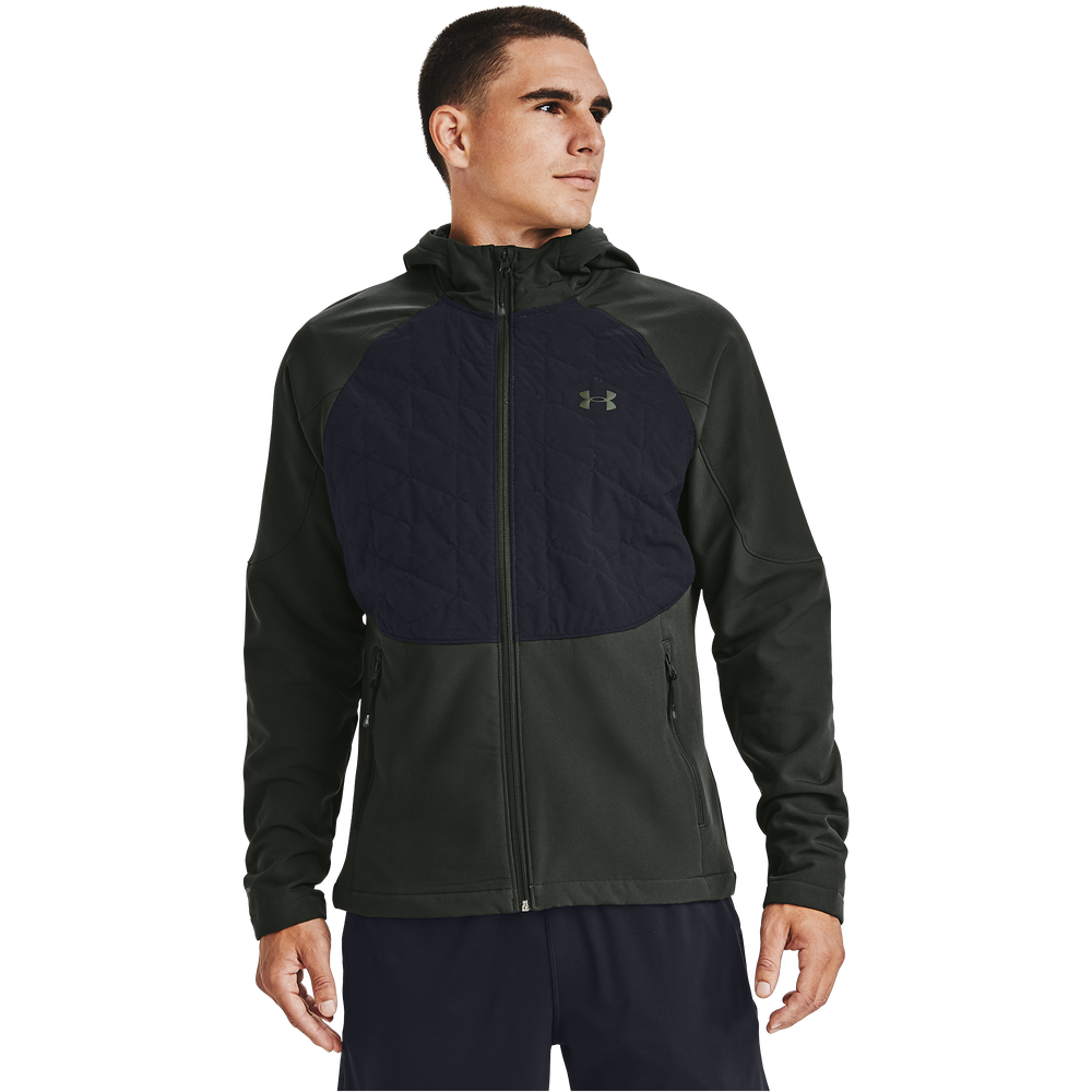 Under Armour ColdGear Reactor Full-Zip Hybrid Lite Jacket - Mens / Baroque Green/Black