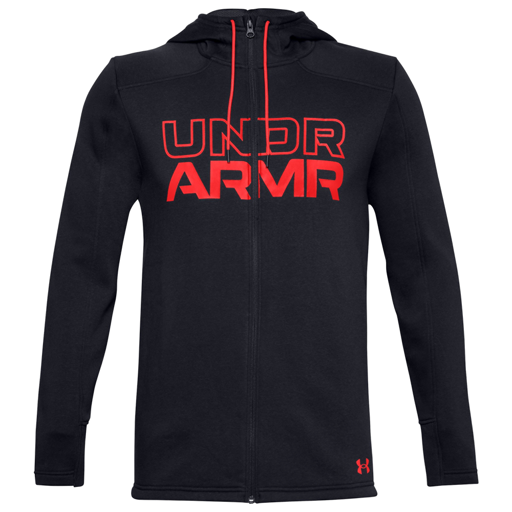 Under Armour Baseline Fleece F/Z Hoodie - Mens / Black