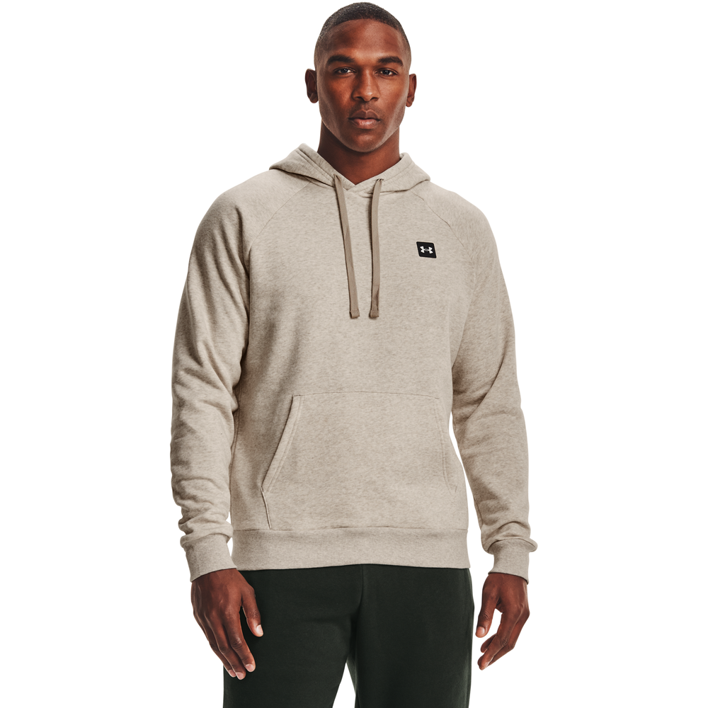 Under Armour Rival Fleece LC Logo Hoodie - Mens / Brown